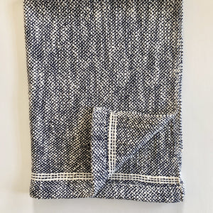 Blue Cotton Dish Towel Woven Towel