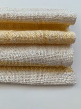Pale Yellow and White Dish Towel