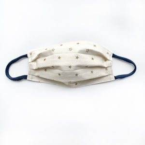 Navy or Cream Patriotic Cotton Face Mask