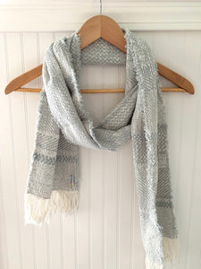 Cloud Gray Fringe Scarf