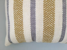 Striped Pillow Gray/Yellow