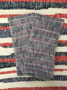 Red White and Blue Striped Dish Towel