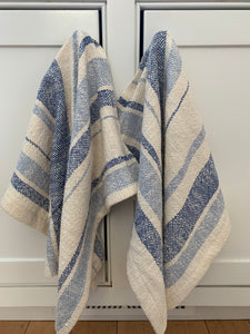 Blue & Cream Striped Dish Towel