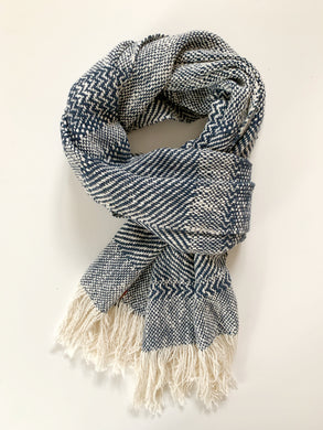 Navy Blue Scarf •Wide