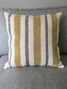 Striped Pillow Gray/Yellow • Cover Only