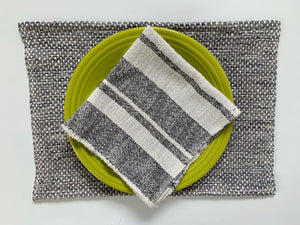 Cotton Dinner Napkin • Slate & White