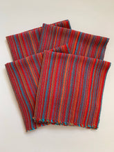 SET of FOUR Red Dinner Napkins