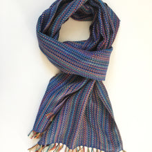 Blue Woven Scarf Bamboo