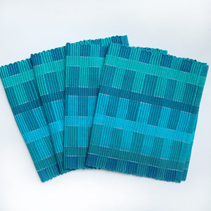 Rep Weave Placemat -Blue