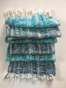 Shades of Blue Boho Scarf