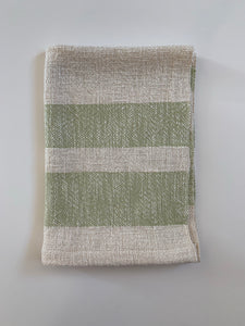 Green and White Dish Towel