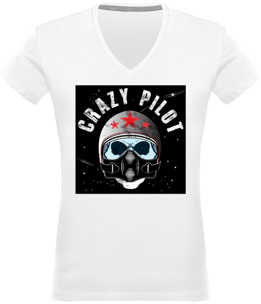 Tee Shirt Pilote Avion - Drinkay