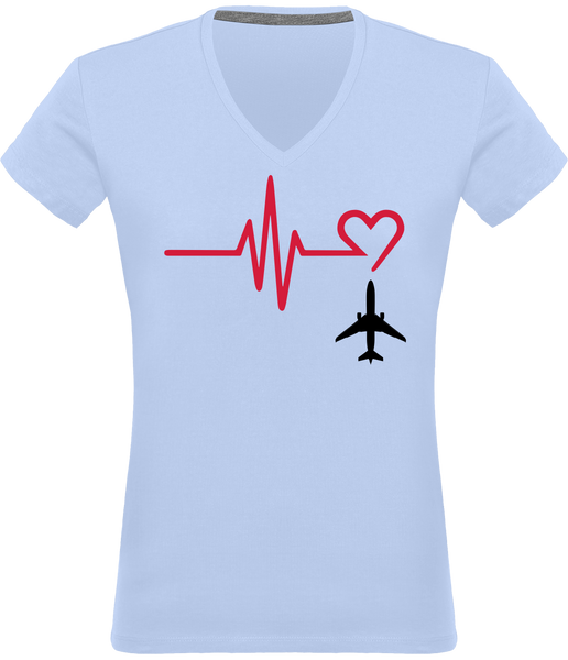 Tee Shirt Femme Aviation Passion - Drinkay