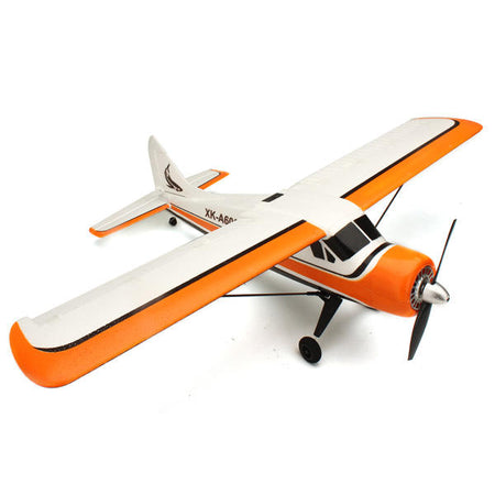 XK DHC-2 DHC2 A600 5CH 3D6G System Brushless RC Airplane Compatible Futaba RTF - Mode 2 (Left Hand Throttle) - Drinkay