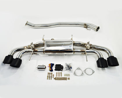 AP 09+ Nissan R35 GT-R Electronic Vavle Controlled Exhaust Muffler - Matte Black Tips