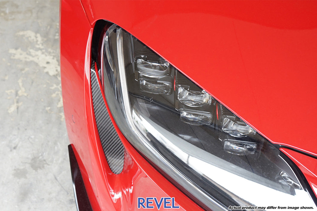 Revel GT Dry Carbon Front Fog Lamp Cover Set for 20-20 Toyota Supra