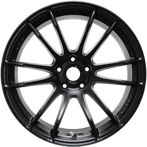 Gram Lights 57XTREME 18X9.5 +22 5-114.3 SEMI GLOSS BLACK (EVO 8/9/X / G35 / 350z / 370z)
