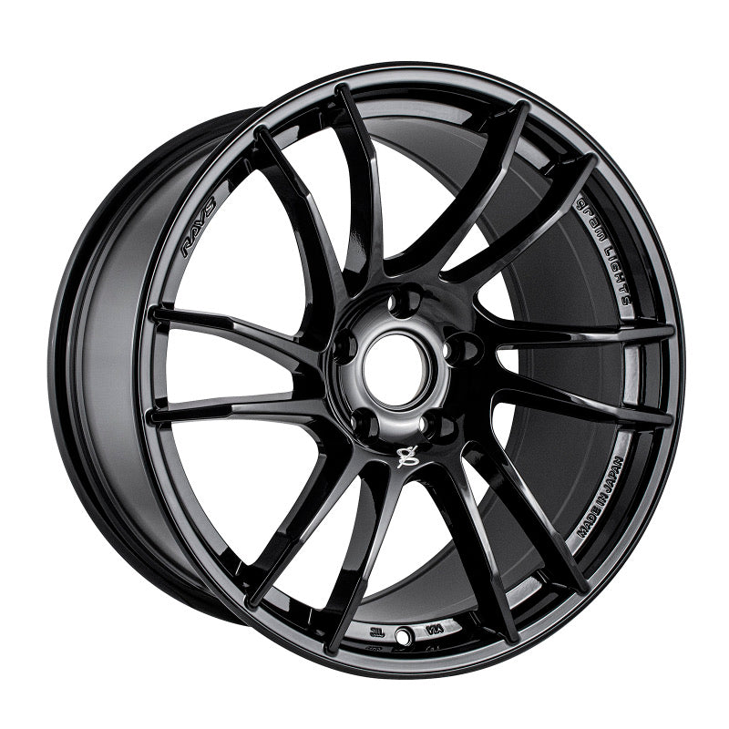 Gram Lights 57XTC 18X9.5 +38 5-114.3 GLOSS BLACK