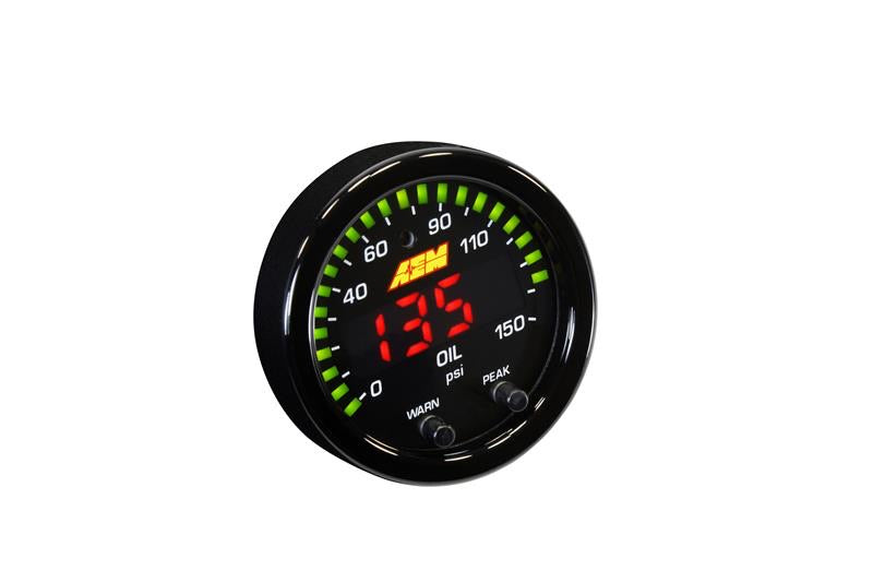 AEM X-Series 0-150 Oil Pressure Gauge Kit