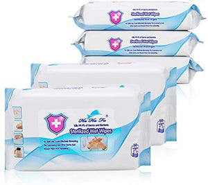 "10Packs (500pcs) Wipes, Portable Wet Wipes(8"" x 6""), Soft Household Clean Wet Wipes for All-Purpose Cleaning Easy Carry School Travel Office"