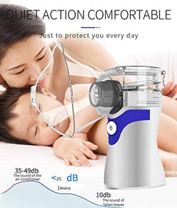 Personal Cool Mist Steam Inhaler, Portable Atomizer Hydrating Mist, Handheld Steam Atomizer for Home Office Daily Use
