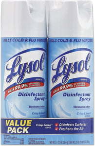 Lysol Disinfectant Spray, Crisp Linen, 12.5 Ounce (Pack of 2)