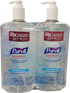 Purell Sanitizer 1 Liter Twin Pack with a pump