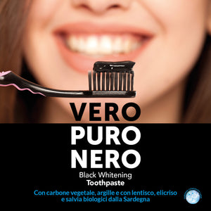 NERO Premium Whitening black toothpaste MADE IN ITALY