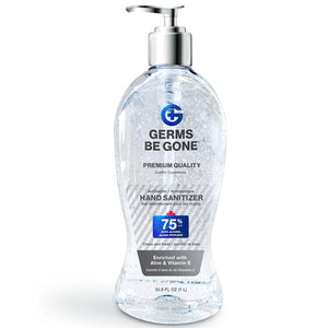 Germs Be Gone Hand Sanitizer Gel, 75% Ethyl Alcohol, 33.8 oz Pump Bottle