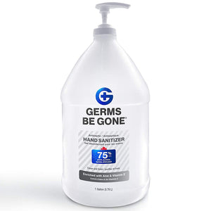 Germs Be Gone Hand Sanitizer Gel, 75% Ethyl Alcohol, 1 Gallon Pump Bottle