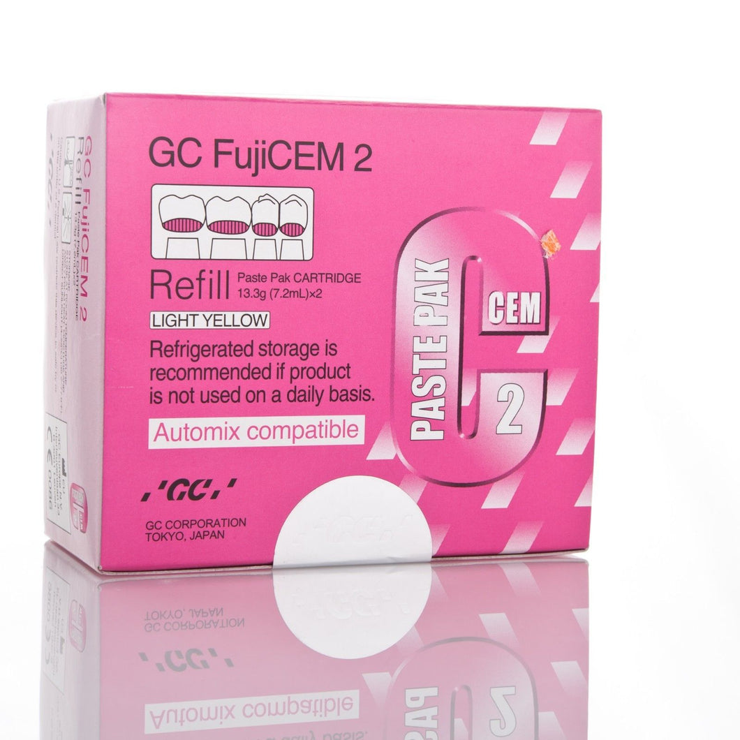 Dental GC, Fuji CEM 2, Automix compatible, Refill Kit, w/mixing pad, 2 - 13.3g