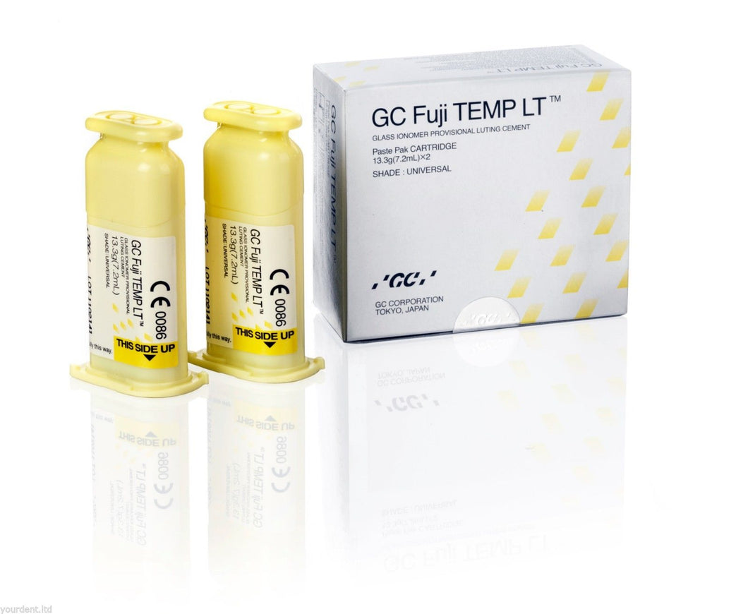 Dental GC Fuji TEMP LT Paste Pak Cartridge 7.2ml X 2