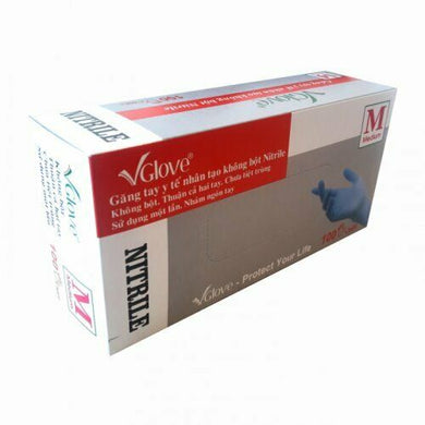 VGlove Powder free!! Nitrile Exam Gloves S/M/L Great quality a case of 10 boxes total 1000 gloves