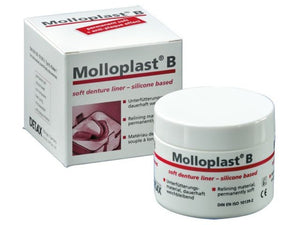 Dental MOLLOPLAST B Permanent Silicone Based Soft Relining Mat Standard Package