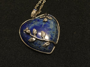 Lapis Lazuli Heart Pendant - Oils & More By Jodie