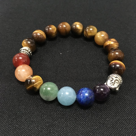 Chakra bracelet with tigers eye - Oils & More By Jodie
