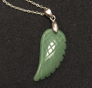 Jade Angel Wing Pendant - Oils & More By Jodie