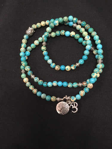 Turquoise With Silver OMM And Tree Of Life Charm - Oils & More By Jodie