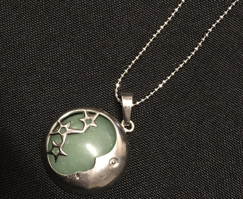 Jade Stars And Moon Pendant - Oils & More By Jodie