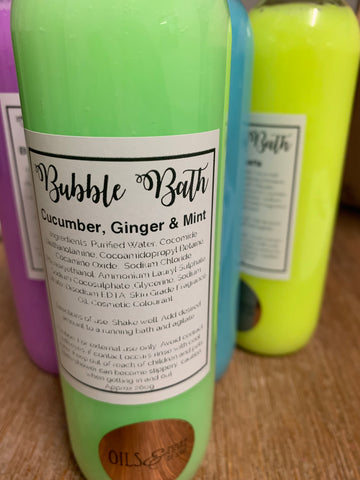 Cucumber, ginger and mint bubble bath - Oils & More By Jodie
