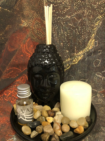 Buddha reed diffuser-black - Oils & More By Jodie