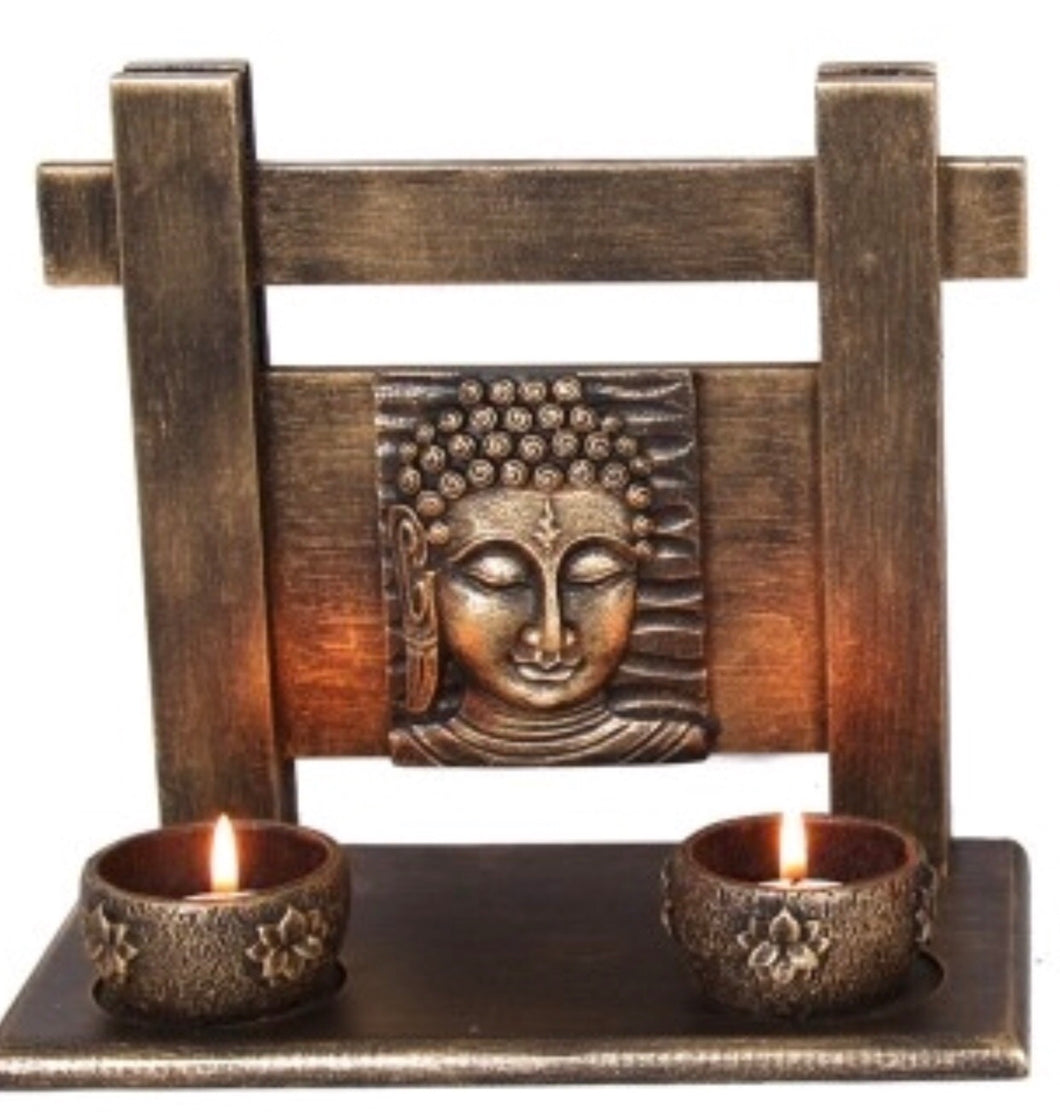 Rulai Buddha twin tea light holder - Oils & More By Jodie
