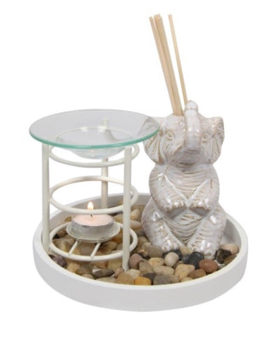 White elephant reed diffuser and oil burner - Oils & More By Jodie