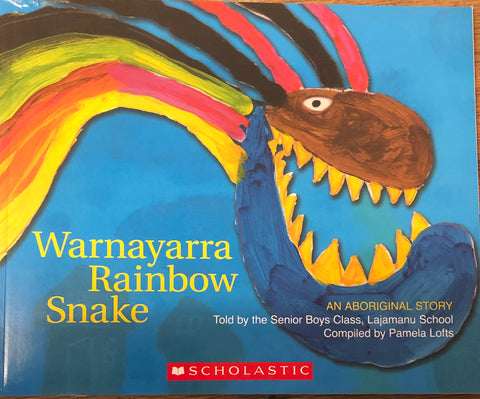 Warnayarra the rainbow snake - Oils & More By Jodie