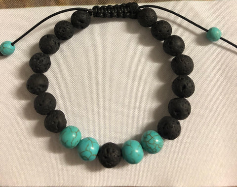 Turquoise with lava beads - Oils & More By Jodie