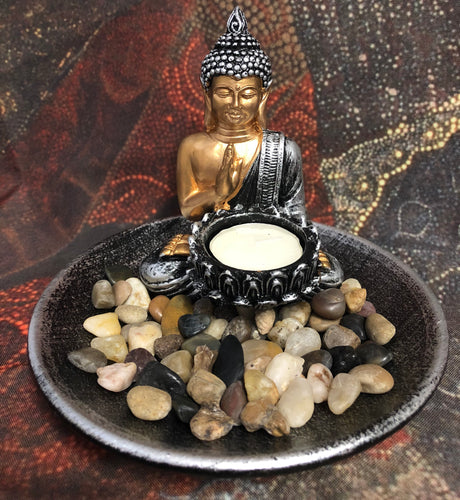 Buddha tea light holder - Oils & More By Jodie