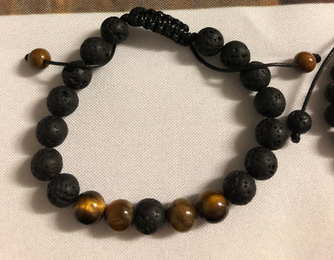 Tigers eye with lava beads - Oils & More By Jodie