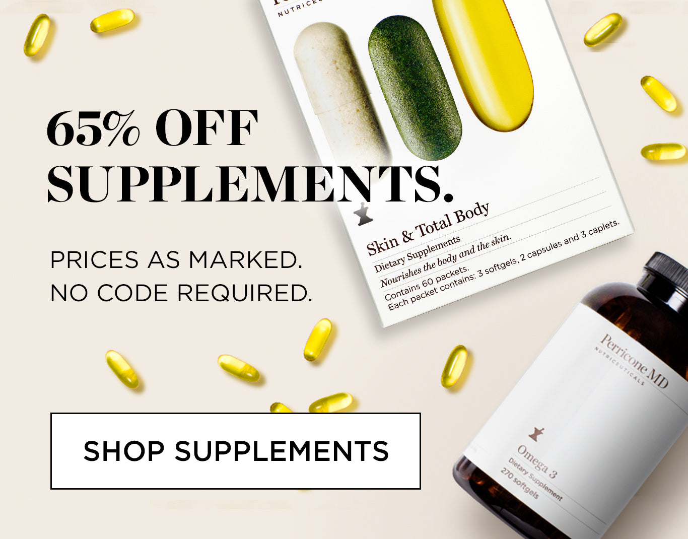 65% off Supplements