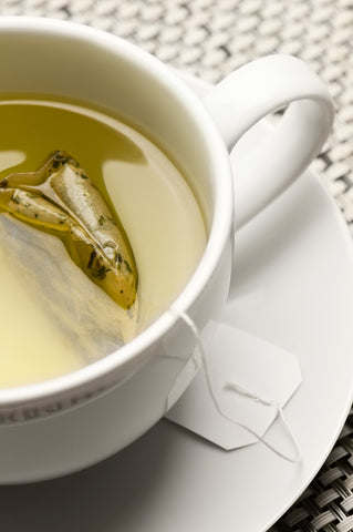 Photo of cup of tea steeping