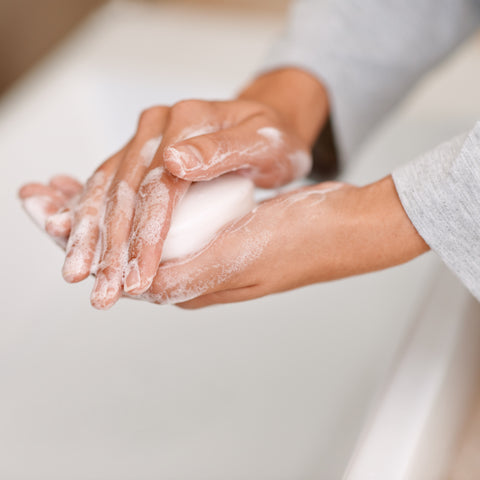 Photo of hands being washed